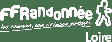 Logo FFRando Loire blanc