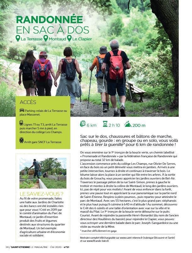 Magazine de la ville de Saint-Etienne - la Boucle verte (1er tronçon) - été 2020