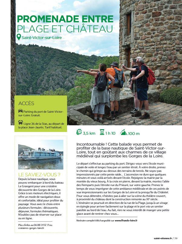 Magazine de la ville de Saint-Etienne - circuit de Saint-Victor-sur-Loire - été 2020