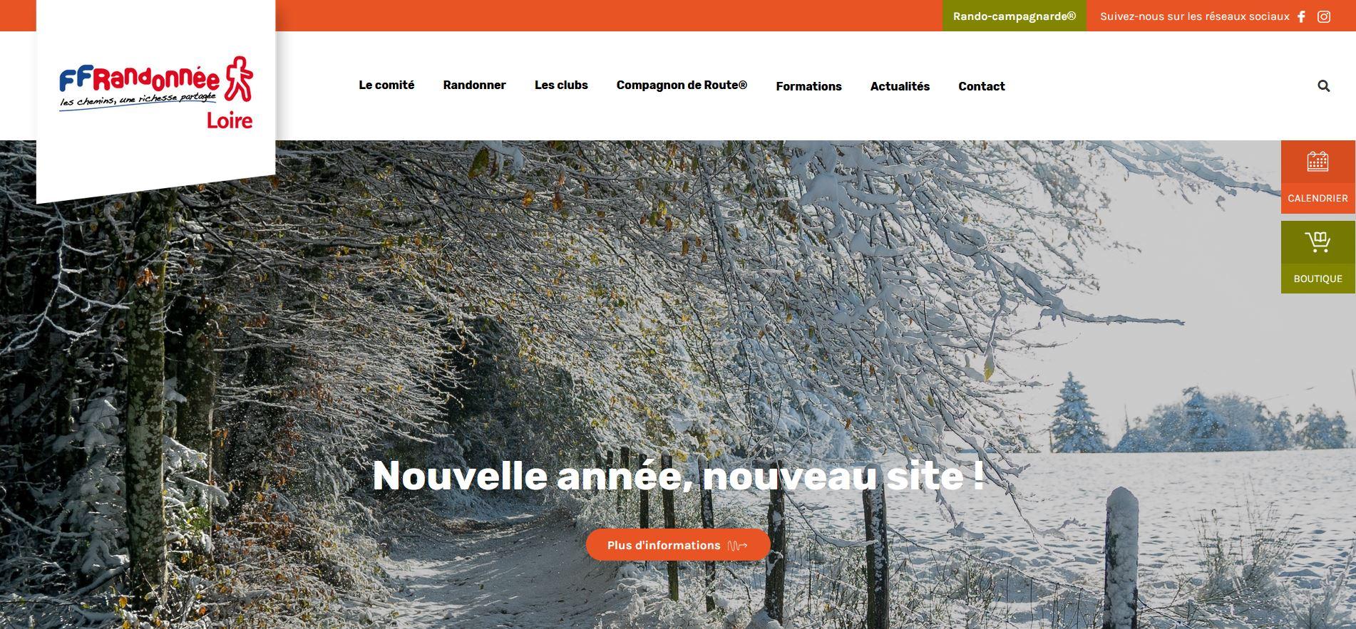 Découvrez le nouveau site du Comité FFRandonnée Loire !