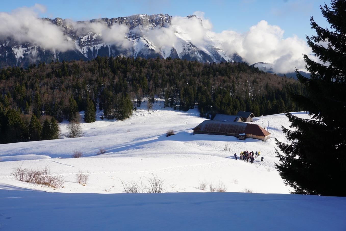 55 ligériens en séjour raquettes en Savoie