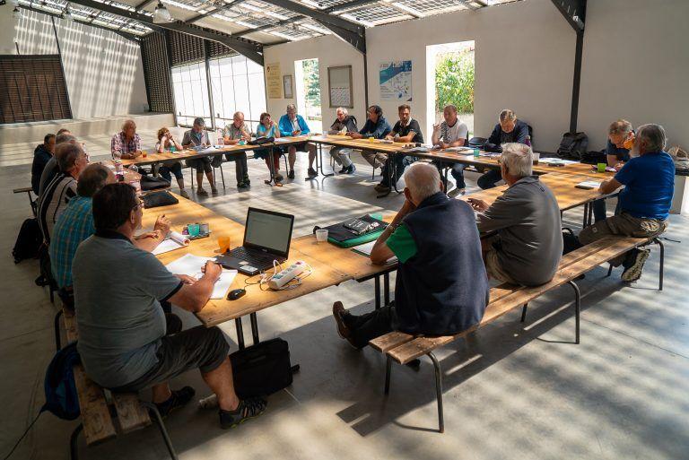 Les bénévoles du Comité FFRandonnée Loire de nouveau réunis